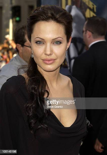Angelina Jolie during World Premiere of 'Lara Croft Tomb Raider The Cradle Of Life' at Mann's Chinese Theatre in Hollywood California United States