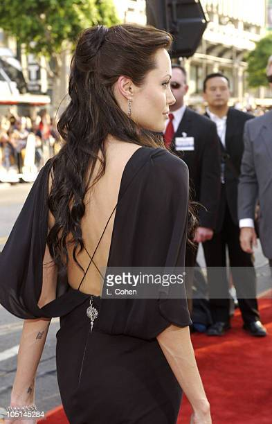 Angelina Jolie during World Premiere of 'Lara Croft Tomb Raider The Cradle of Life' Red Carpet at Chinese Theatre in Hollywood California United...
