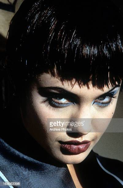 Angelina Jolie in a scene from the film 'Hackers' 1995
