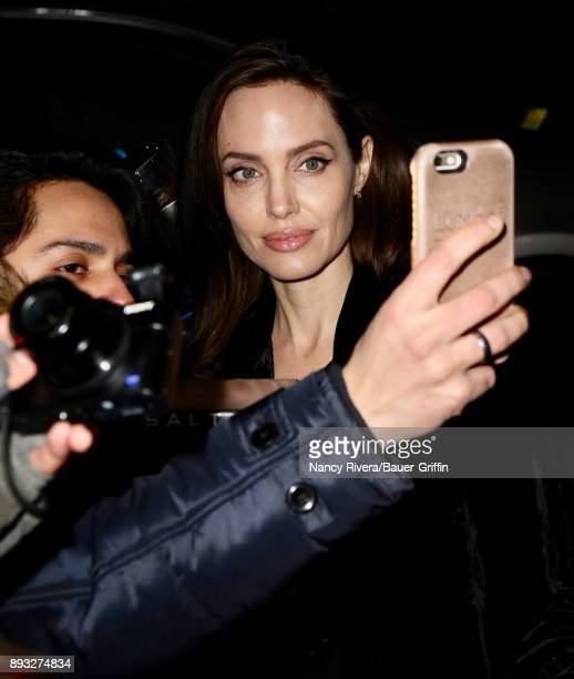Angelina Jolie is seen on December 14 2017 in New York City