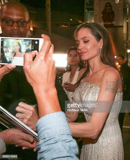 Angelina Jolie is seen on November 05 2015 in Los Angeles California