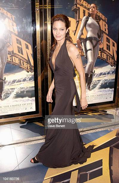 Angelina Jolie 'Lara Croft Tomb Raider 2 The Cradle Of Life' Movie Premiere At The Empire Leicester Square London