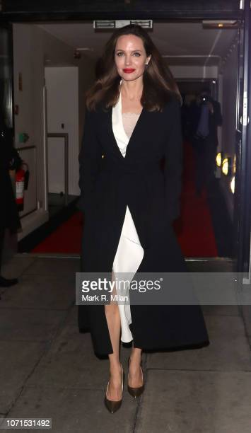 Angelina Jolie leaving the BFI on November 23 2018 in London England