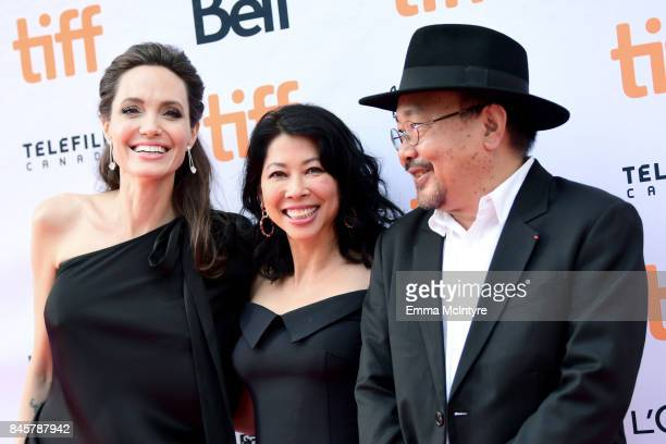 Angelina Jolie Loung Ung and Rithy Panh attend the World Premiere of Netflix's Film's 'First They Killed My Father' during the Toronto International...