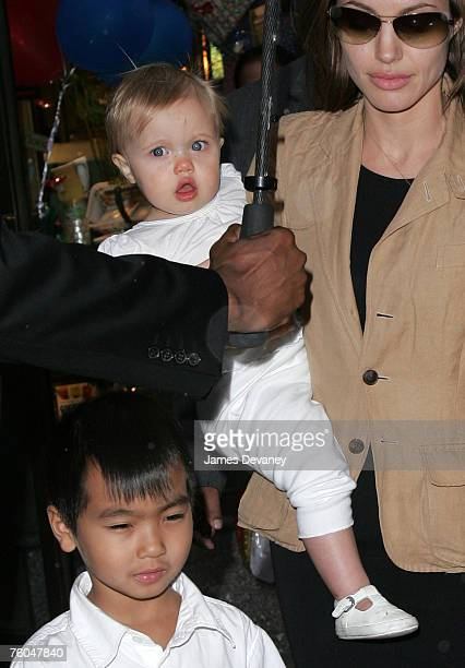 Angelina Jolie Maddox and Shiloh