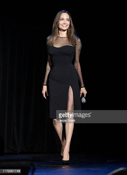 Angelina Jolie of 'Maleficent Mistress of Evil' took part today in the Walt Disney Studios presentation at Disney's D23 EXPO 2019 in Anaheim Calif...