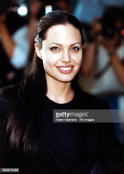 Angelina Jolie outside the Empire Cinema in London's Leicester Square where her latest film 'Tomb Raider' received its premiere