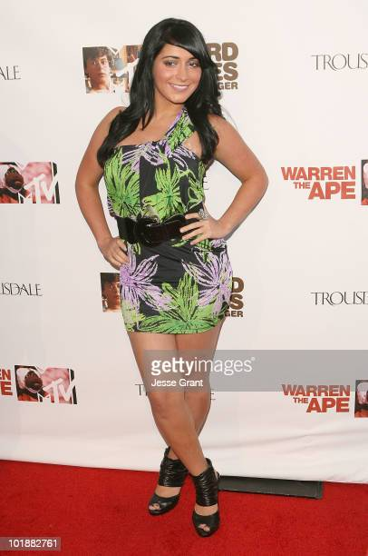 Angelina Jolie Pivarnick arrives at the MTV Series Premiere of The Hard Times of RJ Berger and Warren The Ape at Trousdale on June 7 2010 in West...