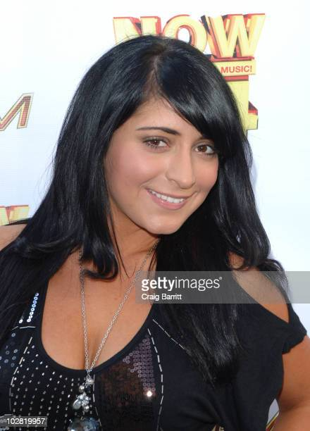 Angelina Jolie Pivarnick at the Premiere Radio KIIS FM Now 34 And The Jersey Shore Party at Hollywood Tower on July 11 2010 in Los Angeles California