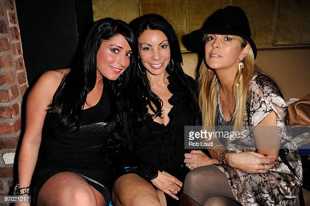 Angelina Jolie Pivarnick Danielle Staub and Dina Lohan attend ThreeO Vodka's Rangtang launch party at Quo Nightclub on February 23 2010 in New York...