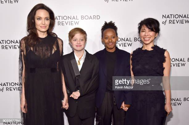 Angelina Jolie Shiloh JoliePitt Zahara JoliePitt and Loung Ungattends The National Board Of Review Annual Awards Gala at Cipriani 42nd Street on...