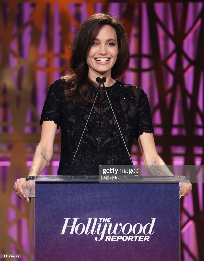 Angelina Jolie speaks onstage at The Hollywood Reporter's 2017 Women In Entertainment Breakfast at Milk Studios on December 6, 2017 in Los Angeles, California.