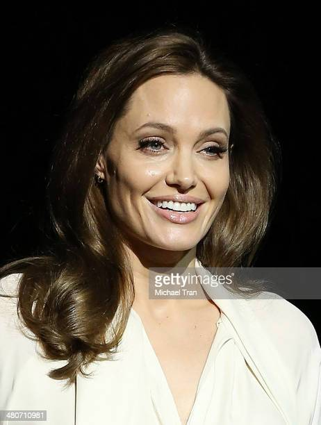 Angelina Jolie speaks onstage during the Universal Pictures presentation at Cinemacon 2014 Day 2 held at The Colosseum at Caesars Palace on March 25...