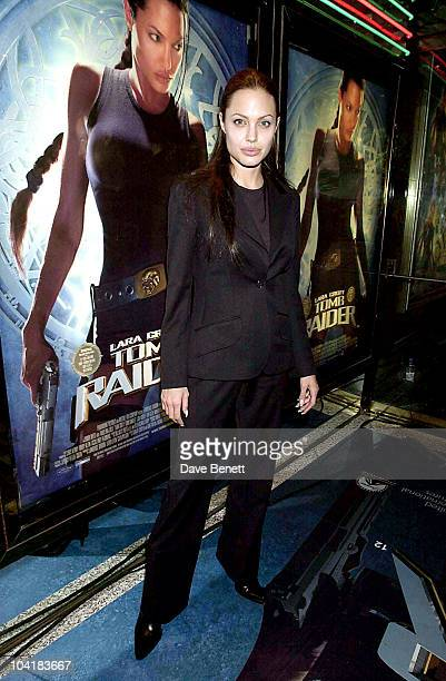 Angelina Jolie 'Tomb Raider' Premiere At The Leicester Sq London