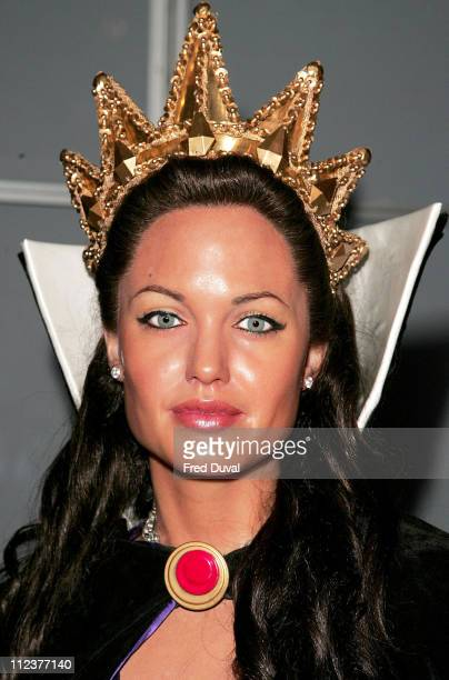 Angelina Jolie waxwork dressed up as Wicked Step Mother