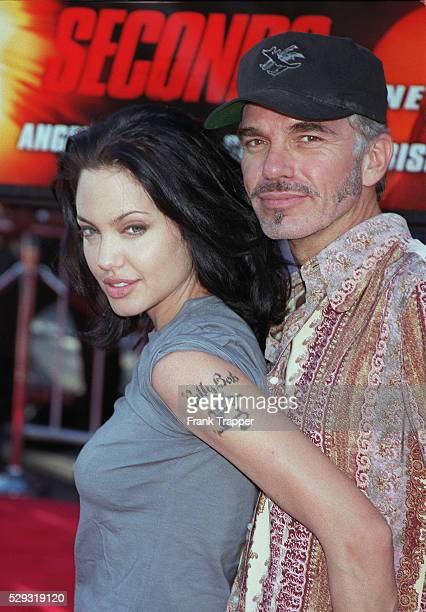 Angelina Jolie with BillyBob Thornton The couple got married on 5 May 2000