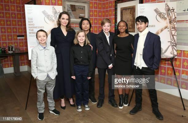 Angelina Jolie with children Knox Leon JoliePitt Vivienne Marcheline JoliePitt Pax Thien JoliePitt Shiloh Nouvel JoliePitt Zahara Marley JoliePitt...
