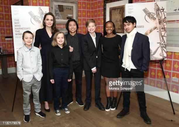 Angelina Jolie with children Knox Leon Jolie-Pitt, Vivienne Marcheline Jolie-Pitt, Pax Thien Jolie-Pitt, Shiloh Nouvel Jolie-Pitt, Zahara Marley...