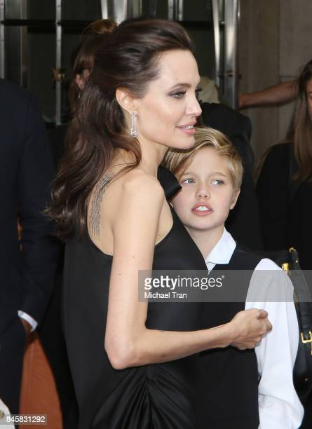 Angelina Jolie with her son Shiloh Nouvel JoliePitt arrive to 'First They Killed My Father A Daughter of Cambodia Remembers' premiere 2017 TIFF...
