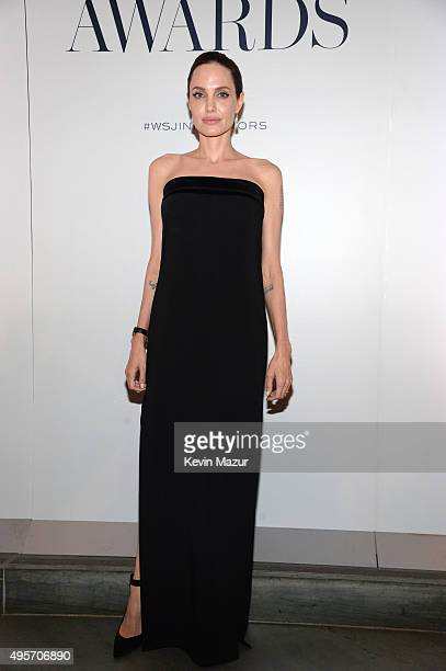 Angelina JoliePitt attends the WSJ Magazine 2015 Innovator Awards at the Museum of Modern Art on November 4 2015 in New York City