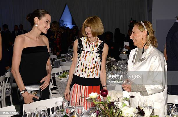 Angelina JoliePitt Miuccia Prada and Vogue EditorInChief and Conde Nast Artistic Director Anna Wintour attend the WSJ Magazine 2015 Innovator Awards...
