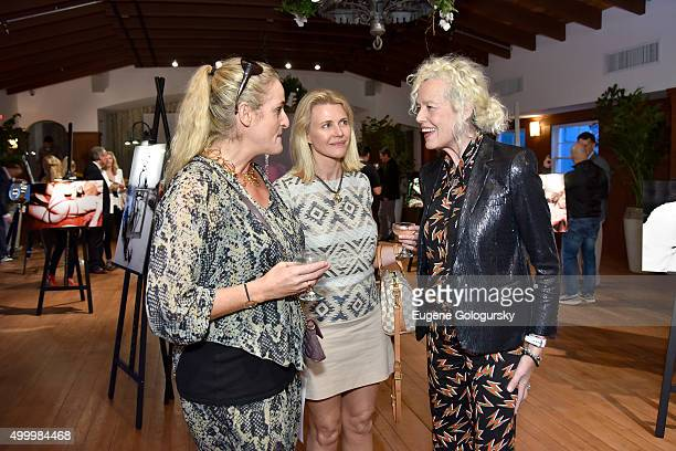 Angelina Jolin Nina Junot and Ellen Von Unwerth attend the MAISON MONTAIGNE PARIS And OMAR'S Host Enchanted Hours At Exclusive PopUp at Omar's Cabana...