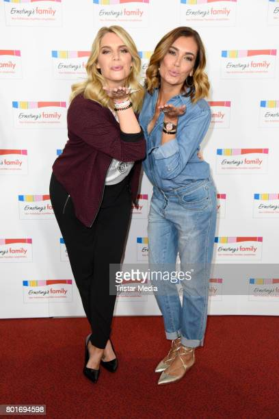Angelina Kirsch and Jana Ina Zarrella attend the Ernsting's Family Fashion Show at Stage Operettenhaus on June 26, 2017 in Hamburg, Germany.