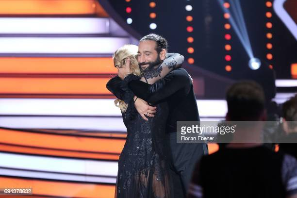 Angelina Kirsch and Massimo Sinato during the final show of the tenth season of the television competition 'Let's Dance' on June 9 2017 in Cologne...