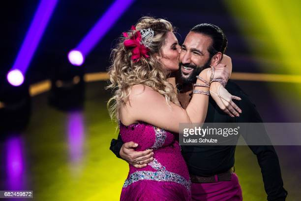 Angelina Kirsch and Massimo Sinato perfom on stage during the 8th show of the tenth season of the television competition 'Let's Dance' on May 12 2017...