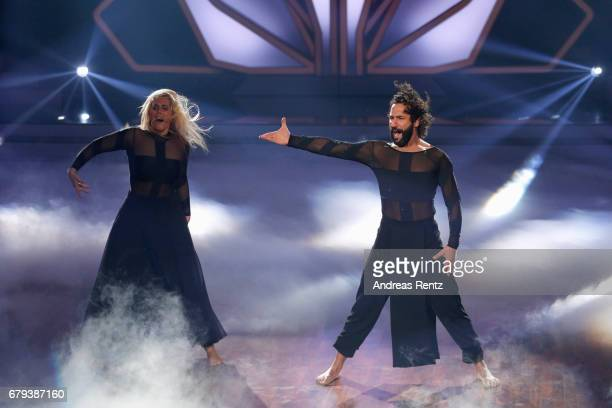 Angelina Kirsch and Massimo Sinato perform on stage during the 7th show of the tenth season of the television competition 'Let's Dance' on May 5 2017...