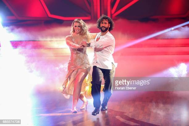 Angelina Kirsch and Massimo Sinato perform on stage during the 9th show of the tenth season of the television competition 'Let's Dance' on May 19...