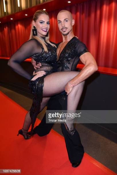 Angelina Kirsch and Oliver Tienken attend the 'Souldance The Show' world premiere at Admiralspalast on September 21 2018 in Berlin Germany