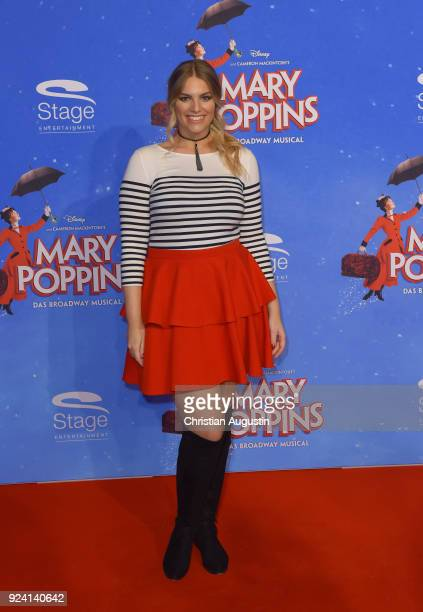Angelina Kirsch attends Mary Poppins Musical Premiere at Stage Theater on February 25 2018 in Hamburg Germany