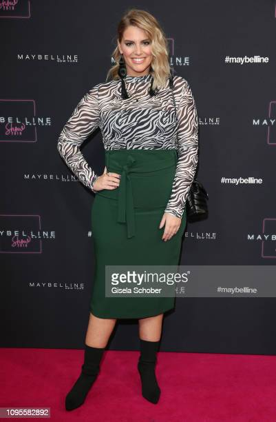 Angelina Kirsch attends the Maybelline New York show 'Makeup that makes it in New York' during the Berlin Fashion Week Autumn/Winter 2019 at...