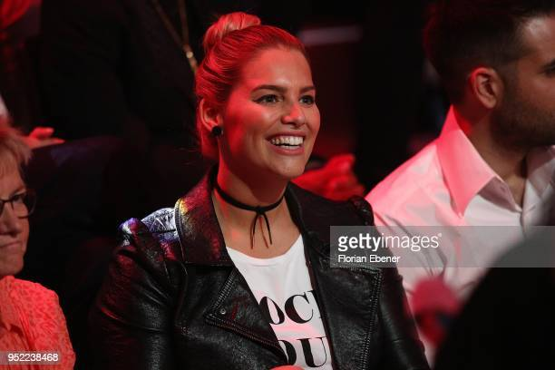 Angelina Kirsch during the 6th show of the 11th season of the television competition 'Let's Dance' on April 27 2018 in Cologne Germany
