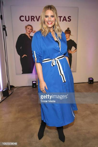 Angelina Kirsch during the Sheego Fashion Style Tour on October 11 2018 in Hamburg Germany