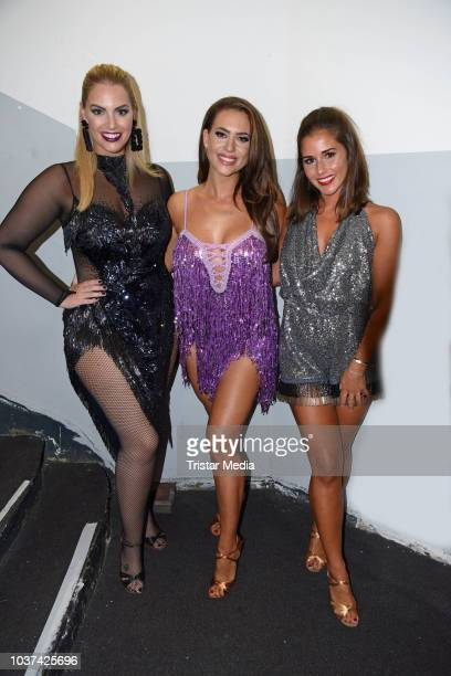 Angelina Kirsch Jessica Paszka and Sarah Lombardi attend the 'Souldance The Show' world premiere at Admiralspalast on September 21 2018 in Berlin...