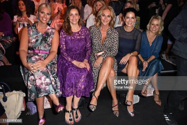 Angelina Kirsch, Rebecca Immanuel, Caroline Beil, Mariella Ahrens and Nova Meierhenrich attend the Riani show during the Berlin Fashion Week...