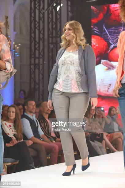 Angelina Kirsch walks the runway during the Ernsting's Family Fashion event on June 18 2018 in Hamburg Germany