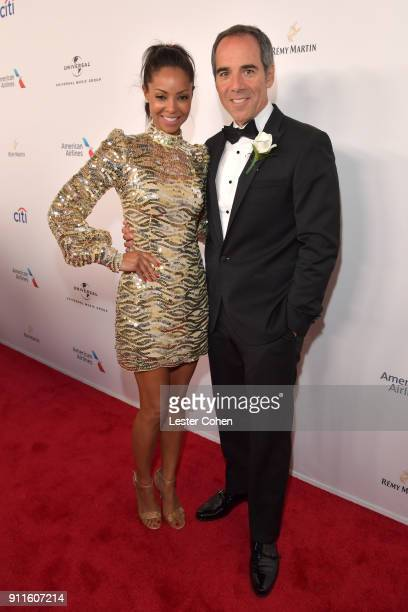 Angelina Lipman and CEO of Republic Records Monte Lipman attend the Universal Music Group's 2018 After Party To Celebrate the Grammy Awards presented...