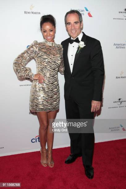 Angelina Lipman and Republic Records Chairman/CEO Monte Lipman attend the Universal Music Group's 2018 After Party to celebrate the Grammy Awards...