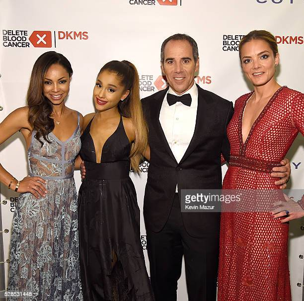 Angelina Lipman Ariana Grande and President Republic Records Monte Lipman and CoFounder DKMS Katharina Harf attend the 10th Annual Delete Blood...