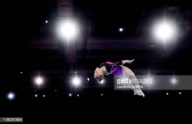 Angelina Melinkova of Russia competes on Floor during the Women's AllAround Final on Day 7 of FIG Artistic Gymnastics World Championships on October...
