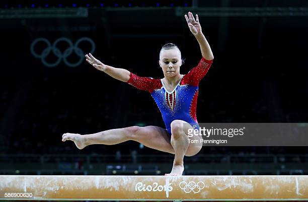Angelina Melnikova of Russia competes on the balance beam during Women's qualification for Artistic Gymnastics on Day 2 of the Rio 2016 Olympic Games...