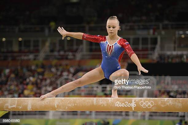 Angelina Melnikova of Russia on the beam during the Women's qualification for Artistic Gymnastics on Day 2 of the Rio 2016 Olympic Games at the Rio...