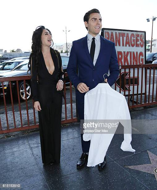 Angelina Mullins and Colt Prattes are seen on October 16 2016 in Los Angeles California