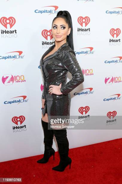 Angelina Pivarnick arrives at iHeartRadio's Z100 Jingle Ball 2019 Presented By Capital One on December 13 2019 in New York City