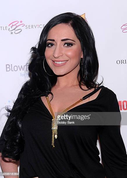 Angelina Pivarnick attends Mob Wives Season Five Viewing Party at Drunken Monkey on December 3 2014 in New York City