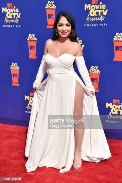 Angelina Pivarnick attends the 2019 MTV Movie and TV Awards at Barker Hangar on June 15 2019 in Santa Monica California