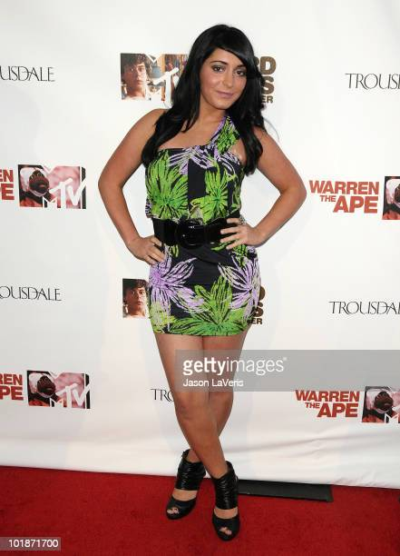 Angelina Pivarnick attends the MTV series premiere for The Hard Times Of RJ Berger and Warren The Ape at Trousdale on June 7 2010 in West Hollywood...